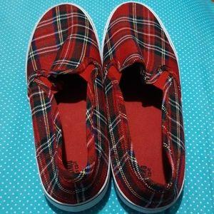 Plaid Canvas Shoe